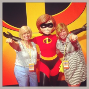 Me & my mom - at Disney World last year over Mother's Day weekend - with the most appropriate character of all from the Incredibles.