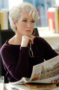Our girl Meryl in A Devil Wears Prada is the #SorryNotSorry inspiration. That's a woman who doesn't apologize for nonsense. Photo Credit: http://silverfoxes.provocateuse.com/show/meryl_streep