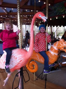 Loving the carousel at the National Zoo this past spring
