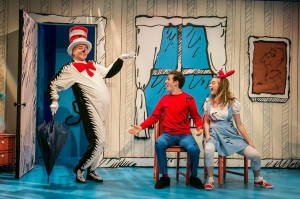 Rick Hammerly as The Cat, Tyler Herman as The Boy, Jessi...Shearer as Sally. Photo by: Mike Horan