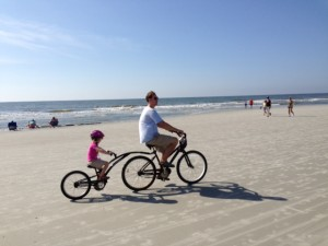 Even a vacation bike ride on the beach turned into an epic drama.