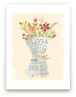 How fantastic is this new baby girl poster? From the kids canvas section of Minted.com
