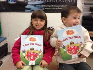 Matt's adorable kids with his books!